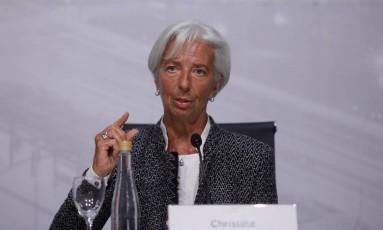 Christine Lagarde, diretora-gerente do Fundo Monetário Internacional (FMI) Foto: Martin Acosta/Reuters