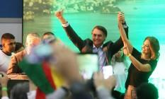 Lançamento da candidatura de Jair Bolsonaro Foto: Guilherme Pinto / Agência O Globo