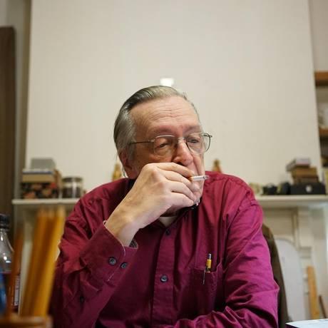 O filósofo Olavo de Carvalho Foto: Josias Teófilo/Divulgação