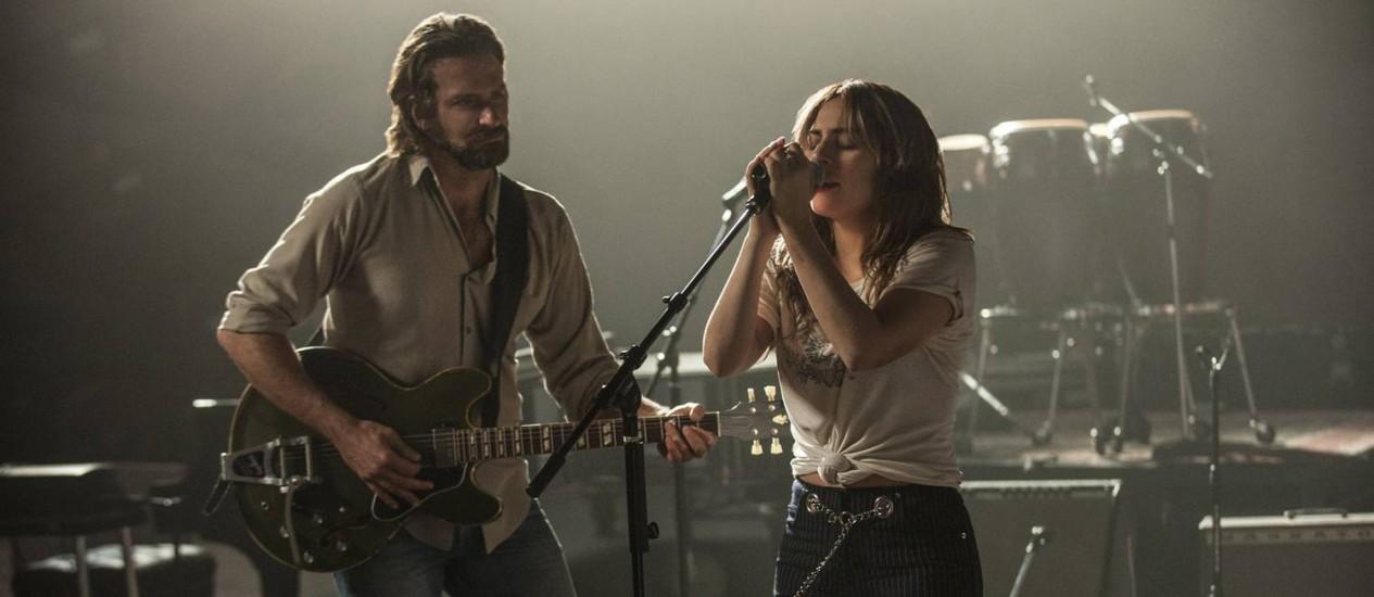 """Bradley Cooper atua e dirige Lady Gaga na quarta versão de """"Nasce uma estrela"""" Foto: Neal Preston / Divulgação"""