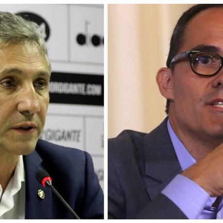Alexandre Campello e Pedro Abad, presidentes de Vasco e Fluminense, respectivamente Foto: Divulgação