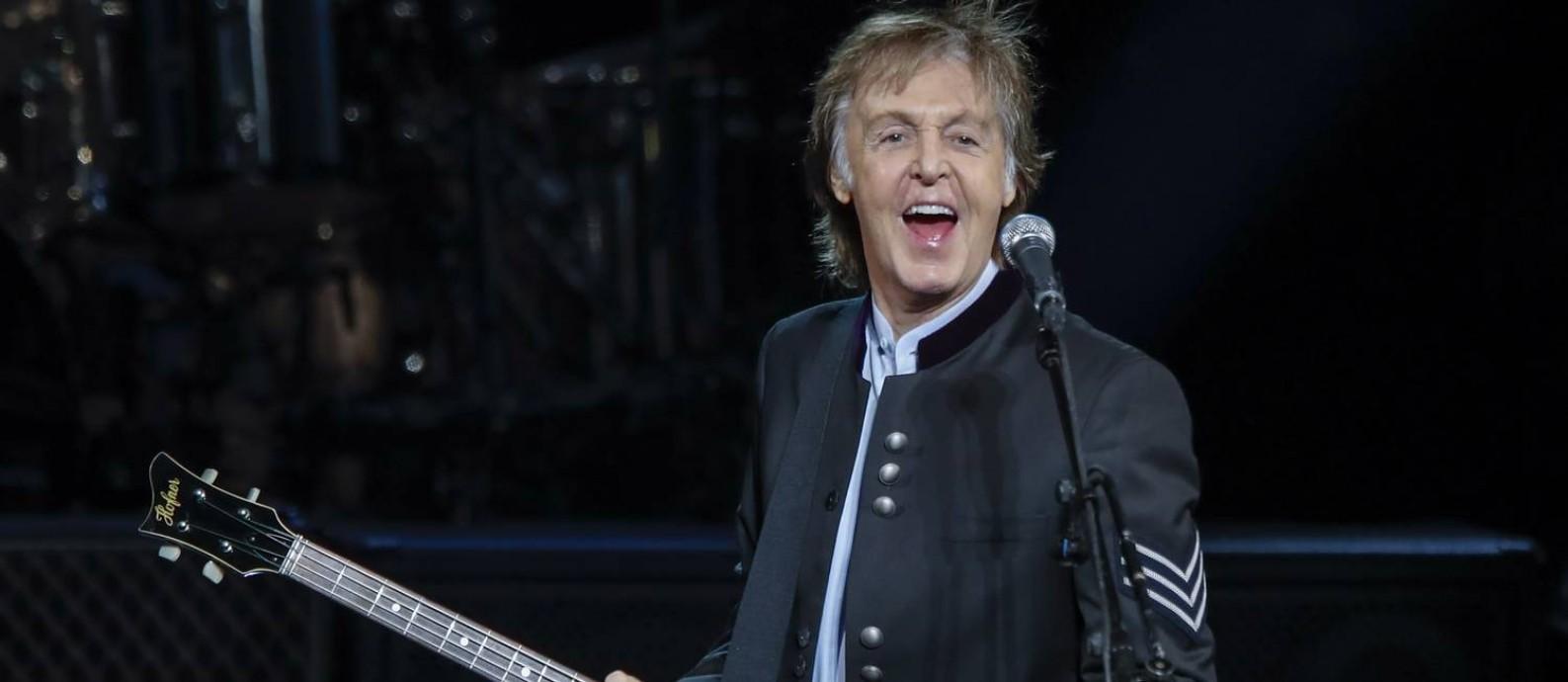 Paul McCartney: show intimista para promover novo álbum Foto: Divulgação / Agência O Globo