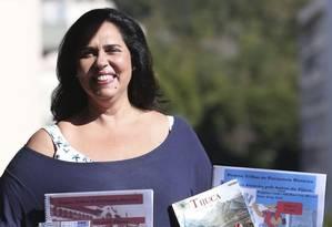 """Historiadora. Lili Rose, autora do livro """"Tijuca de rua em rua"""", de 2005 Foto: Pedro Teixeira"""