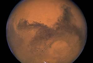 Planeta Marte em foto divulgada pela Nasa Foto: NASA NASA / REUTERS