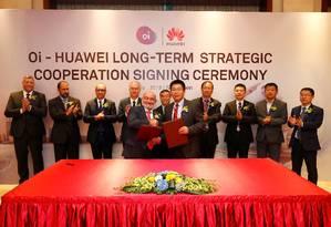 Oi sela parceria com a Huawei Foto: Oi sela parceria com a Huawei
