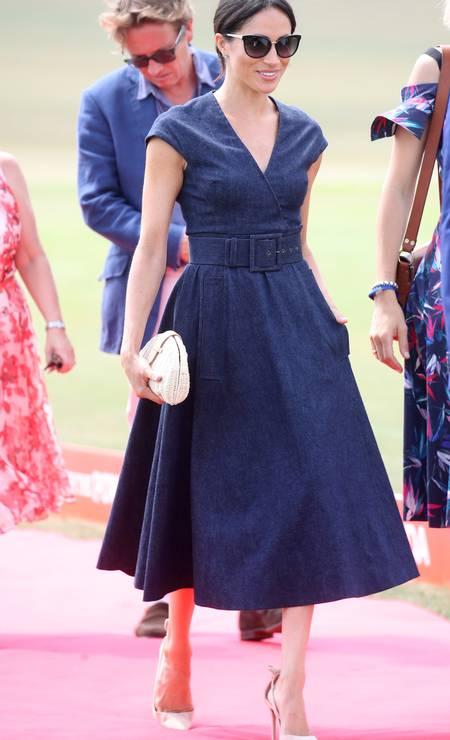 Meghan desfilou um look de Carolina Herrera Foto: Chris Jackson / Getty Images