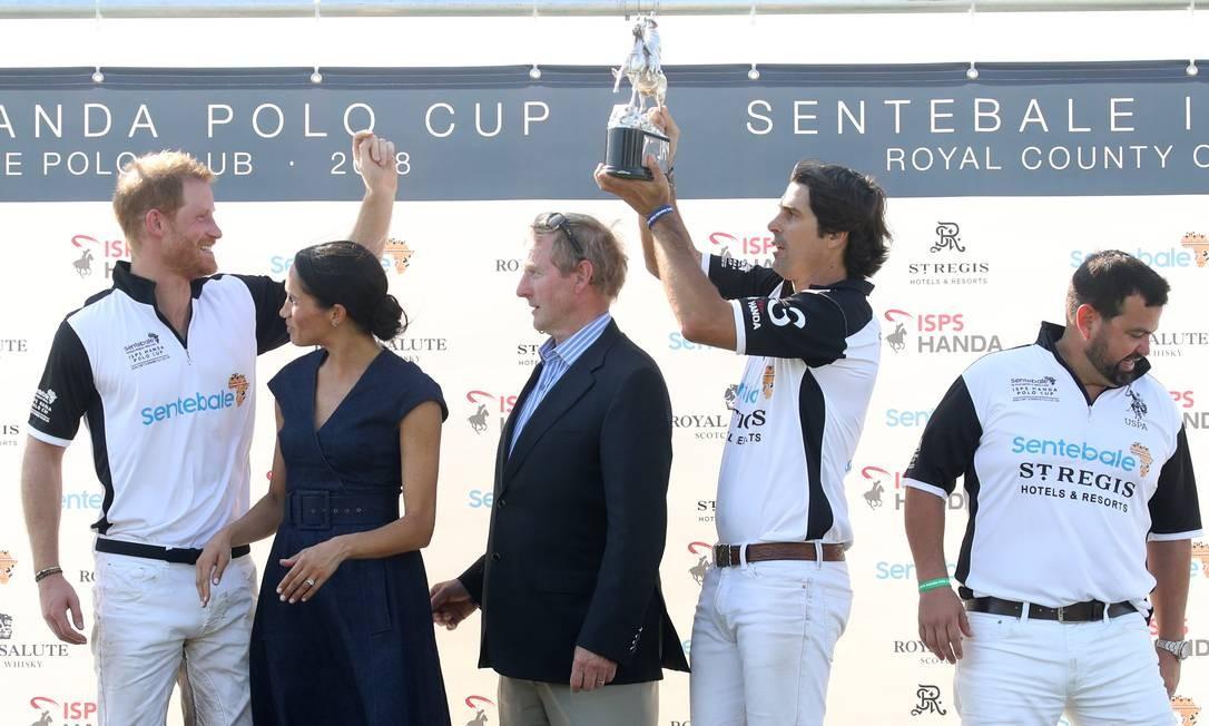 Harry celebrou com Meghan, Enda Kenny, Nacho Figuares e Miguel Mendoza Chris Jackson / Getty Images