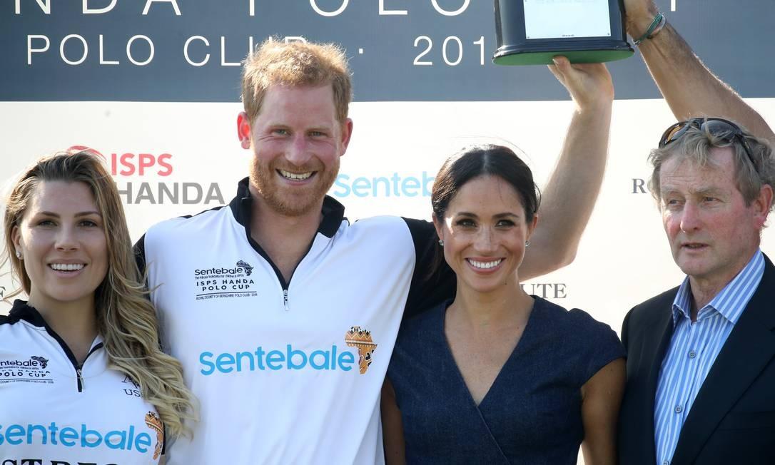 A jogadora de polo Ashley van Metre Busch, Harry, Meghan e o político Enda Kenny Chris Jackson / Getty Images