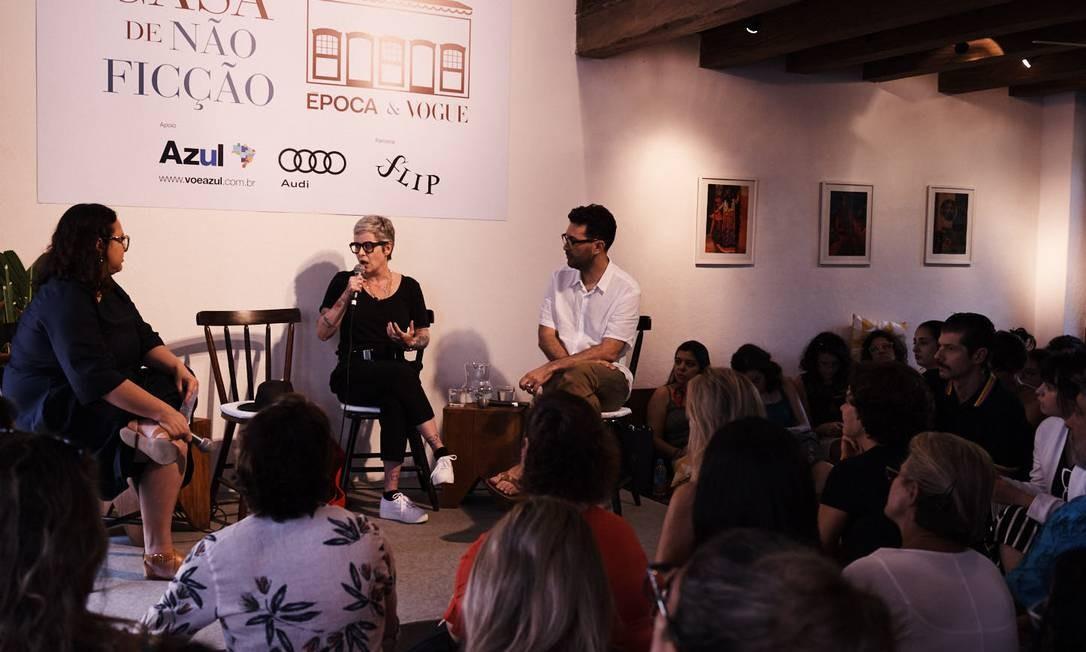 O público acompanhou interessado o primerio debate de quinta (26), sobre o feminismo contemporâneo Foto: Marcelo Saraiva Chaves