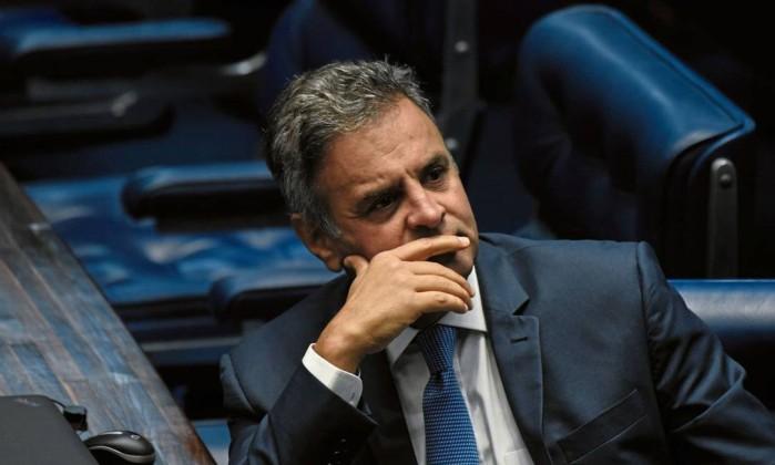 O senador Aécio Neves Foto: Mateus Bonomi / Agif/Folhapress
