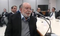 O ex-presidente da OAS Leo Pinheiro, em depoimento Foto: Reprodução / TV Globo