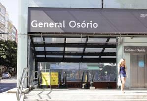 Sem baldeação. O tempo de espera entre a Cardeal Arcoverde e a General Osório poderá cair pela metade Foto: Agência O Glbo / Paulo Nicolella/27-05-2018