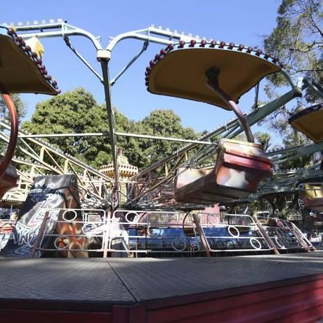 As Cadeiras Voadoras se elevam a cerca de dez metros de altura Foto: Agência O Globo / Pedro Teixeira