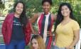 Da esquerda para a direita, Suellen, Nayara, Vanessa e Sabrina