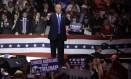 As gafes de Trump durante a campanha não prejudicaram sua candidatura, ao contrário do que previam os analistas políticos Foto: Charles Krupa / Glow Images