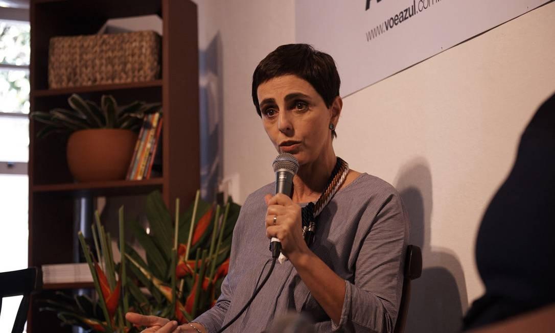 """A jornalista Lilian Pacce participou da mesa """"Por que o jornalismo de moda não é algo frívolo"""" Foto: Marcelo Saraiva Chaves"""