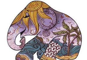 A ilustradora Babi Wrobel se inspirou na cultura indiana para saudar a paisagem do Rio Foto: Divulgação