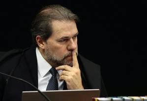 O ministro Dias Toffoli, durante sessão da Segunda Turma do STF Foto: Jorge William/Agência O Globo/19-06-2018