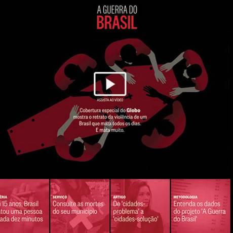 Especial Guerra do Brasil Foto: O GLOBO