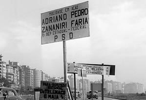 Mutações. Cartaz de candidatos do PDS em eleição de 1962: antigo centrão Foto: o globo/5-9-1962