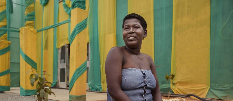 Eva da Silva não lembrava a sigla do partido a que é filiada Foto: Leo Martins / Agência O Globo