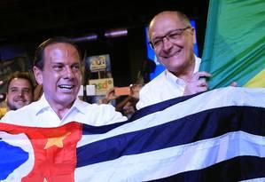 João Doria e Geraldo Alckmin aparecerão juntos muitas vezes nos próximos meses Foto: Edilson Dantas / Agência O Globo