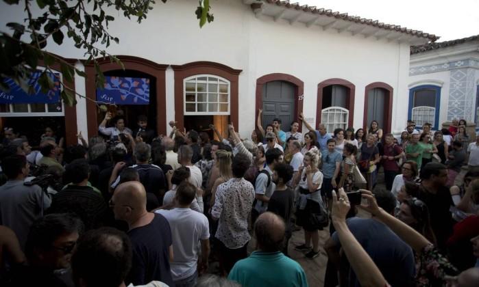 Na foto, a casa da ÉPOCA / Vogue, que abrigou diversos debates e foi um dos grandes destaques da Flip 2018 Foto: Márcia Foletto / Agência O Globo