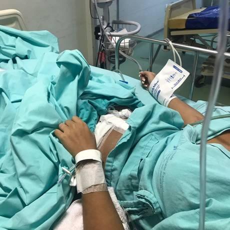 Gabriela está internada no Hospital Cardoso Fontes Foto: Arquivo pessoal