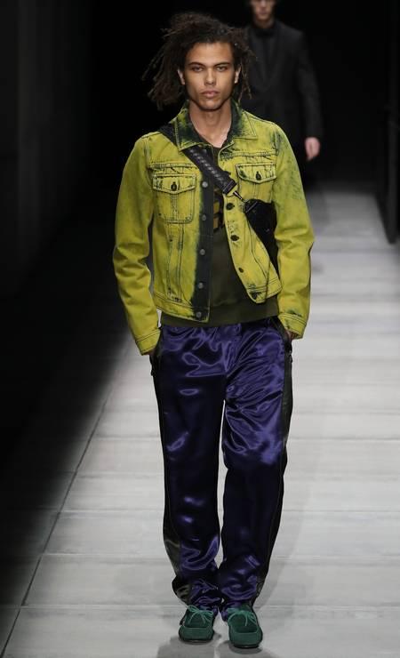 Roberto na passarela da Bottega Veneta Foto: Getty Images / Getty Images
