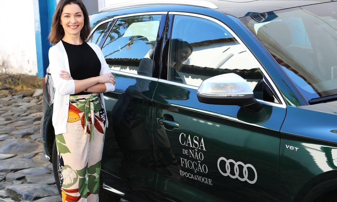 Ilona Szabó chega à Casa de Não Ficção Época & Vogue no Audi Q7 Foto: Alex Ribeiro / Visor Magico