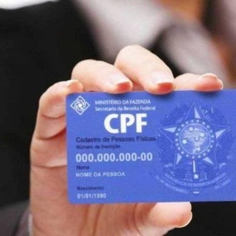 Receita Federal informou que não emite mais o CPF em cartão de plástico desde 2011 Foto: Arquivo