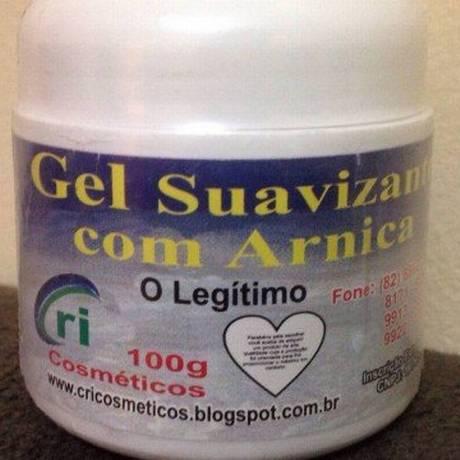 Gel com arnica é um dos produtos suspensos pela Anvisa: fabricante não tinha autorização Foto: Reprodução