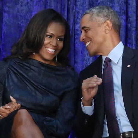 O casal Obama: fãs de Beyoncé e Jay-Z Foto: Mark Wilson / Getty Images