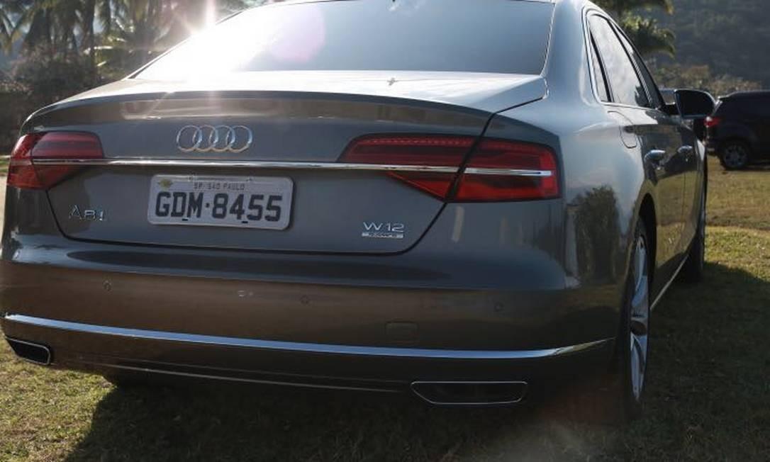 Audi A8 L, com um conceito exclusivo e produção limitada, em Paraty, durante a Flip Foto: Divulgação