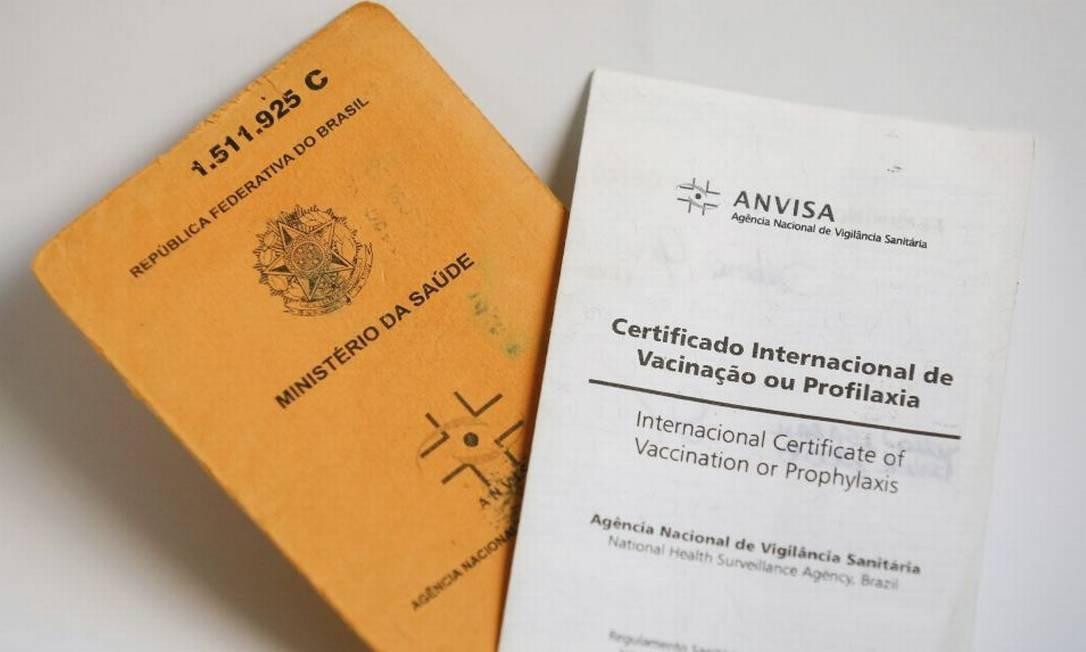 Certificado de vacinação exigido em viagens internacionais Foto: / Pablo Jacob/15-05-2016