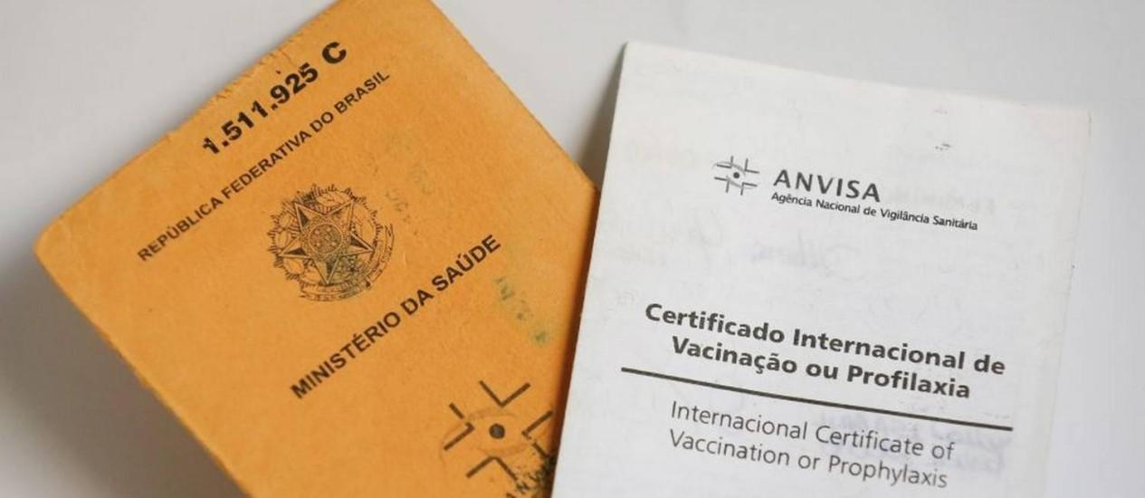 Certificado de vacinação exigido em viagens internacionais Foto: Pablo Jacob/15-05-2016