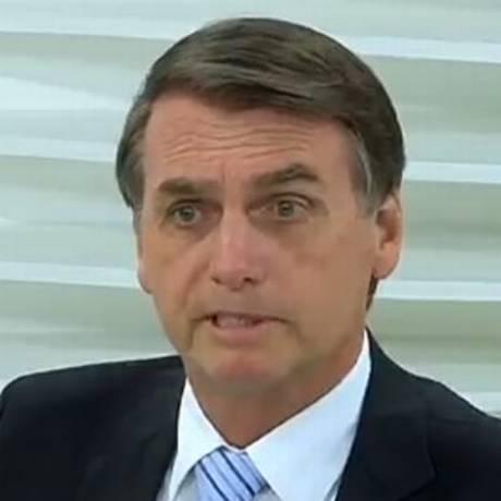 Jair Bolsonaro durante o programa Roda Viva. Foto: Reprodução