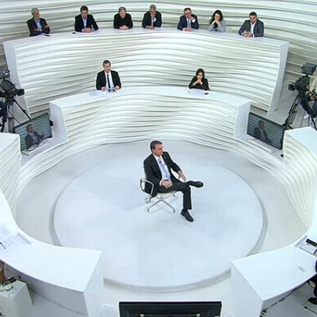 Jair Bolsonaro durante entrevista no programa