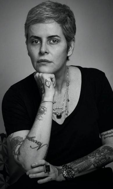 """A escritora Fernanda Young, na mesa """"O feminino e o feminismo"""" Marcelo Saraiva"""