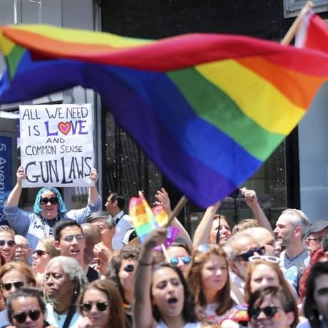 Parada gay na cidade de Nova York - 26/06/2016 Foto: Mel Evans/AP
