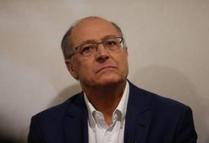 Geraldo Alckmin participa de debate com jovens em São Paulo Foto: Marcos Alves / Agência O Globo