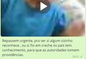 Vídeo de surra em bebês não foi gravado no Brasil Foto: Reprodução/WhatsApp