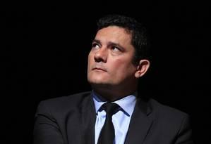 O juiz Sérgio Moro, durante fórum contra corrupção, em São Paulo Foto: Edilson Dantas / Agência O Globo (25/07/2018)