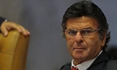 O ministro Luiz Fux, durante sessão do Supremo Foto: Jorge William / Agência O Globo
