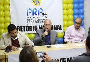 Durante convenção nacional, PRP oficializa apoio a Álvaro Dias Foto: Divulgação/PRP