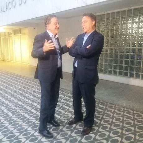 Paulo Rabello de Castro e Alvaro Dias, após reunião que selou aliança Foto: Amanda Almeida/Agência O Globo