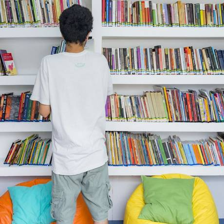A biblioteca da Lar Cantinho Feliz, em Vila Isabel, foi a primeira do projeto Foto: Carla Cunha / Divulgação/Carla Cunha