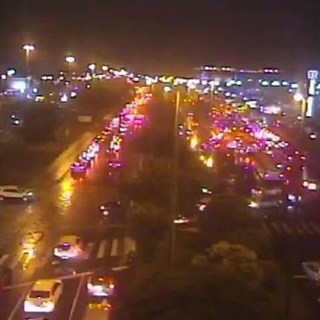 Imagem mostra situação na Avenida das Américas Foto: Reprodução/COR