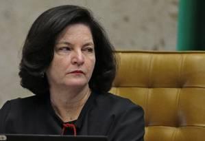 A procuradora-geral da República, Raquel Dodge, durante sessão do Supremo Foto: Jorge William/Agência O Globo/01-08-2018
