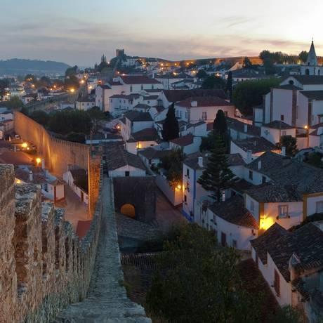 A Vila de Óbidos, no Centro de Portugal, vista de cima Foto: Turismo Centro de Portugal / Divulgação